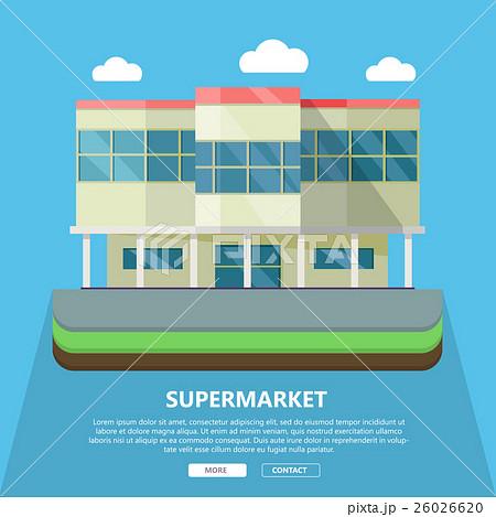 supermarket web template in flat designのイラスト素材 26026620 pixta