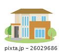 住宅 家 一軒家のイラスト 26029686