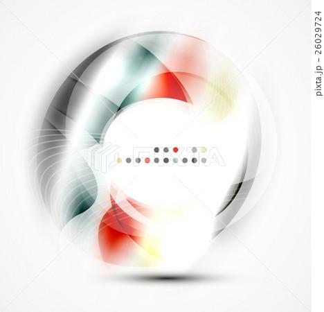 Shiny blurred cicrle templateのイラスト素材 [26029724] - PIXTA