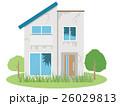 老朽化 住宅 一軒家のイラスト 26029813