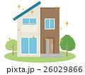 住宅 家 一軒家のイラスト 26029866