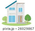 老朽化 住宅 一軒家のイラスト 26029867