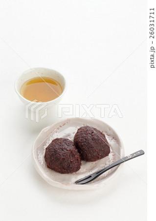 おはぎ(ぼた餅)とお茶 26031711