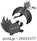 鶴と亀 縁起物 26033377