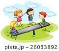 子供 シーソー 遊ぶのイラスト 26033892