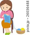 編み物している人 26036488