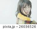 女性 寒い 冬の写真 26036526