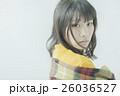 女性 寒い 冬の写真 26036527