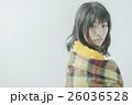 女性 寒い 冬の写真 26036528