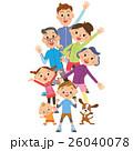 体操をする三世代家族 26040078