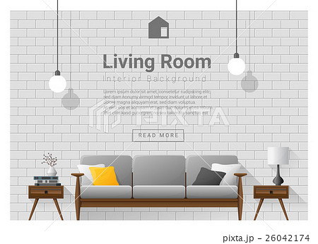 Living room interior background 1 26042174 pixta for Aleso3d interior 026 lounge room