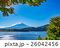 【山梨県】河口湖と富士山 26042456
