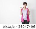 女性 フィットネス スポーツウェアの写真 26047406
