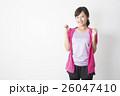 女性 フィットネス スポーツウェアの写真 26047410