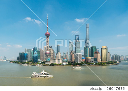 Aerial view of shanghai, China. 26047636
