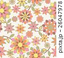 パターン レトロ 花のイラスト 26047978