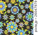 パターン レトロ 花のイラスト 26047979