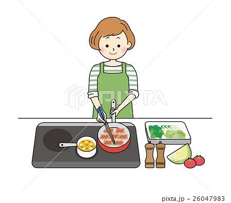 主婦 料理 26047983