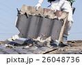 屋根工事 瓦の葺き替え 古い瓦を剥がす 26048736