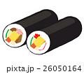 恵方巻 巻き寿司 海苔巻きのイラスト 26050164