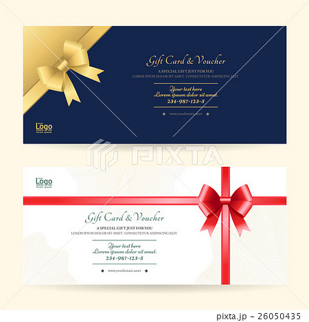 elegant gift voucher or gift card templateのイラスト素材 26050435