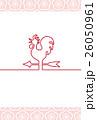 年賀状 酉年 風見鶏のイラスト 26050961