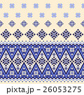 ノルディック柄 雪 模様編みのイラスト 26053275