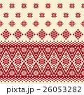 ノルディック柄 雪 模様編みのイラスト 26053282