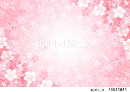 桜 和紙 年賀状 背景  26056686