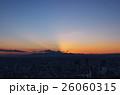 六本木ヒルズから秋のダイヤモンド富士が沈んだ直後の夕景 26060315