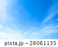 10月の空 雲 筋雲 積雲 巻雲 青い空 秋の空 晩夏の空 背景用素材 クラウド 青空 合成用背景 26061135