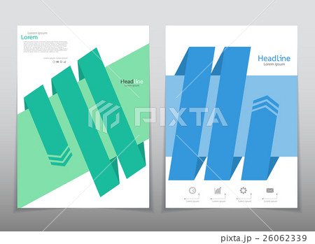 Vector design for Cover Report Annual Flyer Posterのイラスト素材 [26062339] - PIXTA