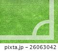 背景 サッカー 草の写真 26063042