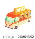 コーヒー バン 貨車のイラスト 26064352
