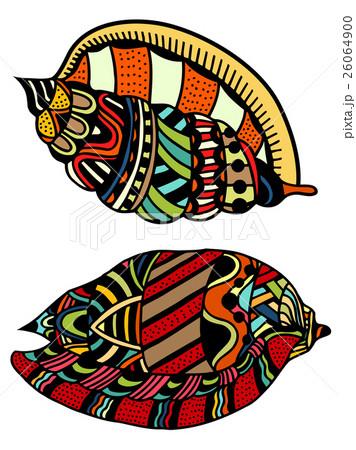 Seashell. Vector illustration. のイラスト素材 [26064900] - PIXTA
