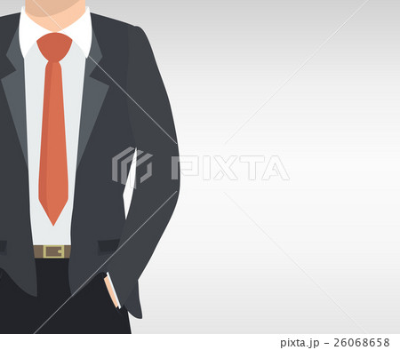 Closeup View Of Businessman In Nice Suitのイラスト素材 26068658