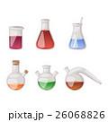 Lab flask vector set. 26068826