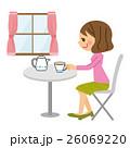 カフェ 女性 26069220