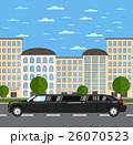 リムジン 車 自動車のイラスト 26070523