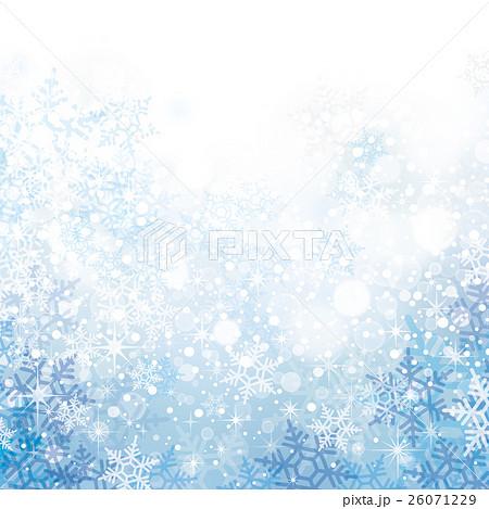 雪の結晶の背景素材のイラスト素材 26071229 Pixta