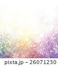 雪 雪の結晶 冬のイラスト 26071230