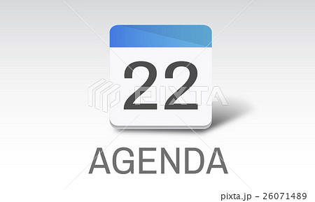 Agenda Events Reminder Meeting Appointment Conceptのイラスト素材 [26071489] - PIXTA