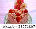ピンクのハートケーキ 3 26071807