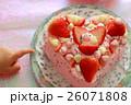 ピンクのハートケーキ 4 26071808