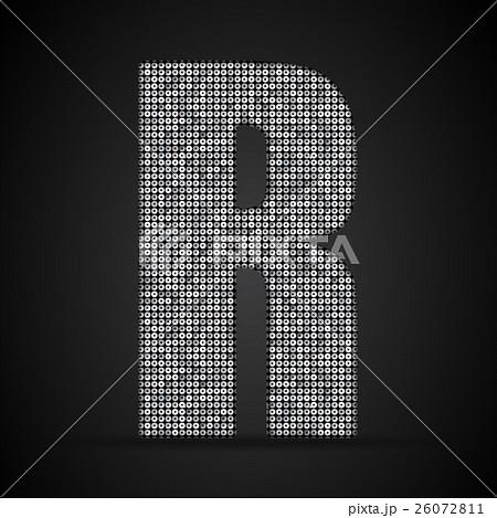 Silver sequins sings. Sequins alphabet. Eps 10. のイラスト素材 [26072811] - PIXTA