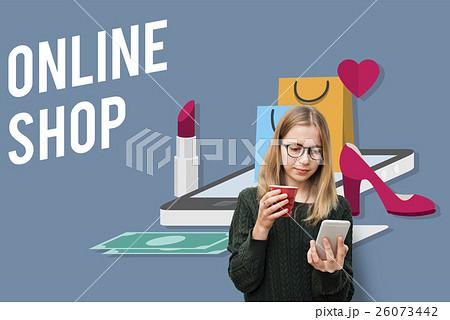 Shopping Online Shopaholics E-Commerce E-Shopping Concept 26073442