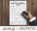 地固め 借金 債務の写真 26076792