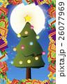 背景素材,クリスマスカード,ツリー,招待状,もみの木,プレゼント,贈り物,デコレーションオーナメント 26077969