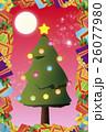 背景素材,クリスマスカード,ツリー,招待状,もみの木,プレゼント,贈り物,デコレーションオーナメント 26077980