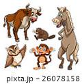 動物 生き物 生物のイラスト 26078158